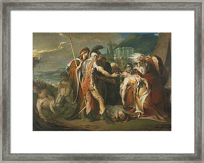 King Lear Weeping Over The Dead Body Of Cordelia Framed Print by James Barry