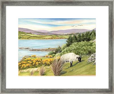King Of The Hill Framed Print by Vanda Luddy