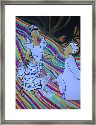 Kintu And Nambi A Folktale Framed Print by Gloria Ssali