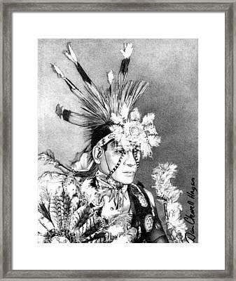 Kiowa Indian Framed Print by Dan Clewell