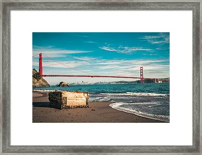 Framed Print featuring the photograph Kirby Cove Treasure by Kim Wilson