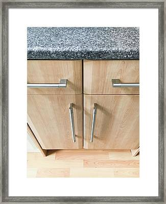 Kitchen Cupboards Framed Print by Tom Gowanlock