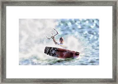 Kitesurf  Framed Print
