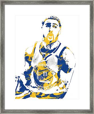 Klay Thompson Golden State Warriors Pixel Art 3 Framed Print