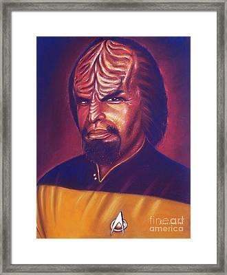 Klingon Star Trek Framed Print by Anastasis  Anastasi