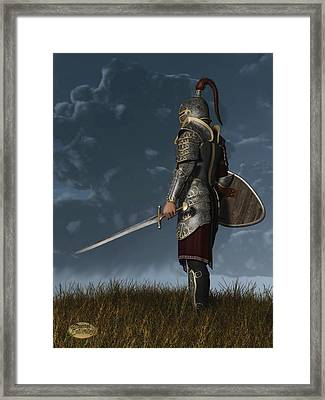 Knight Of The Storm Framed Print