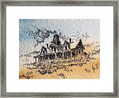 Knippenberg Mansion Glendale Ghost Town Montana Framed Print by Kevin Heaney