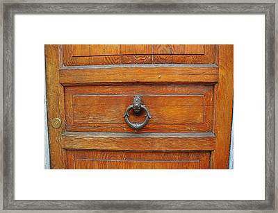 Knock Knock On Wood Framed Print by JAMART Photography