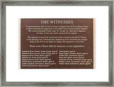 Knock Shrine - Knock Ireland Framed Print