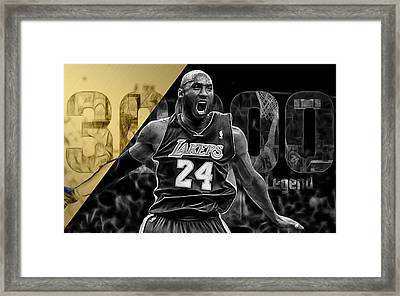 Kobe Bryant Collection Framed Print