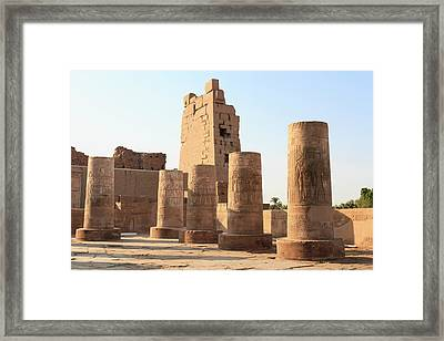 Framed Print featuring the photograph Kom Ombo by Silvia Bruno