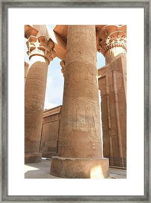 Framed Print featuring the photograph Kom Ombo Temple by Silvia Bruno