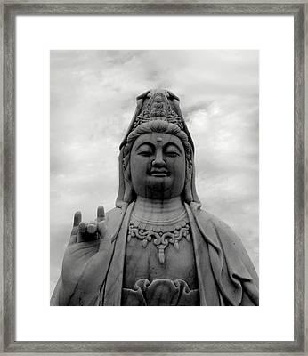 Kuan Yin Statue Framed Print