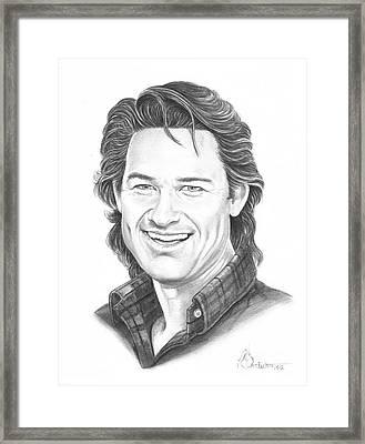 Kurt Russell Framed Print by Murphy Elliott