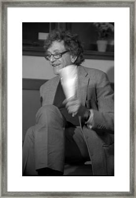 Kurt Vonnegut Framed Print