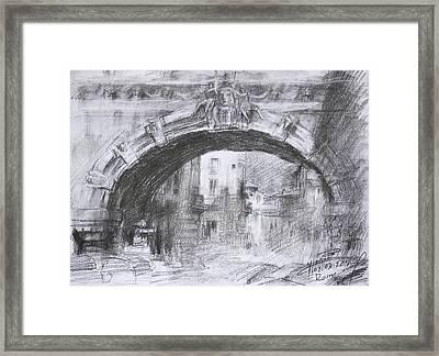 L-arco Di Via Tagliamento Rome Framed Print by Ylli Haruni