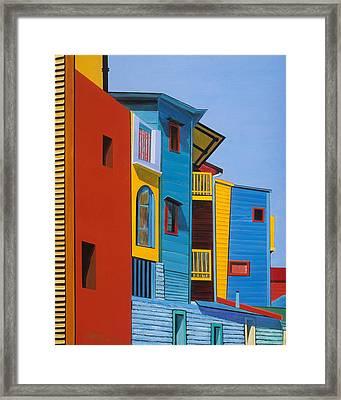 La Boca Street Scene Three Framed Print