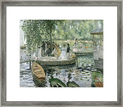 La Grenouillere Framed Print by Pierre Auguste Renoir