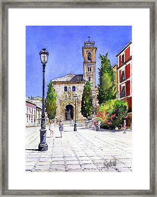 La Iglesia De Santa Ana Granada Framed Print by Margaret Merry