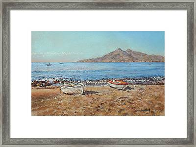 La Isleta Del Moro Framed Print by Margaret Merry
