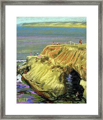 La Jolla Swimmers  Framed Print by Donald Maier