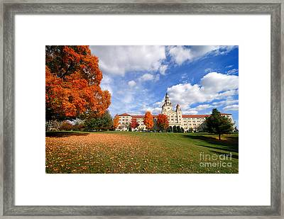 La Roche College On A Fall Day Framed Print