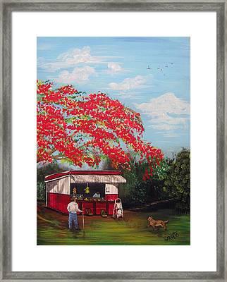 La Tiendita Framed Print by Gloria E Barreto-Rodriguez