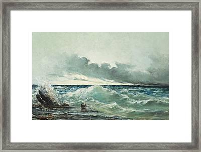 La Vague Framed Print by Gustave Courbet