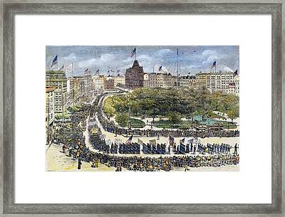 Labor Day Parade, 1882 Framed Print by Granger