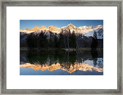 Lacs Des Gaillands Framed Print