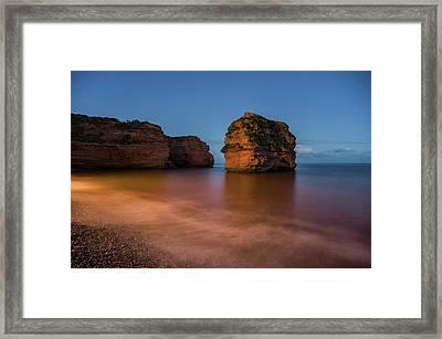 Ladram Bay In Devon Framed Print by Pete Hemington
