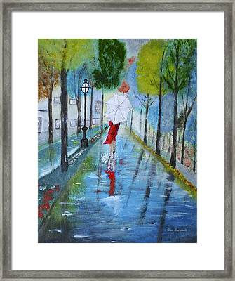 Lady In Red Original Version Framed Print by Dick Bourgault