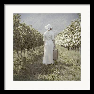 Woman Alone Framed Prints