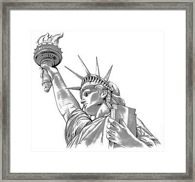 Lady Liberty Framed Print by Greg Joens