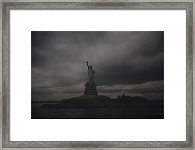 Lady Liberty Framed Print by Rob Hans