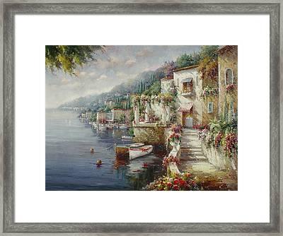 Lago Di Como Framed Print