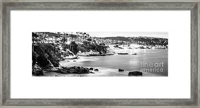 Laguna Beach California Panoramic Photo Framed Print