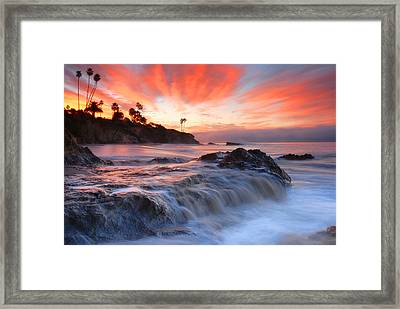 Laguna Beach Sunrise Framed Print