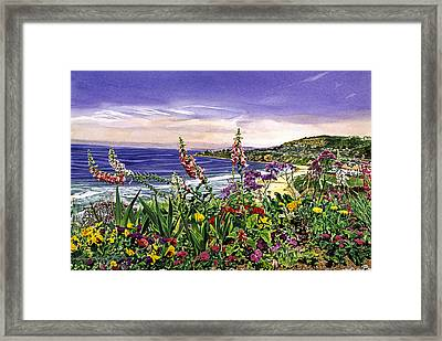 Laguna Niguel Garden Framed Print by David Lloyd Glover