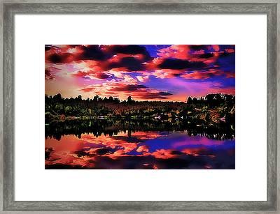 Lake Framed Print by Alexey Bazhan