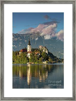 Framed Print featuring the photograph Lake Bled by Brian Jannsen