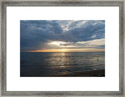 Lake Erie Sunrise Framed Print by Peter  McIntosh