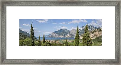 Lake Garda Gorgeous Panoramic View Framed Print