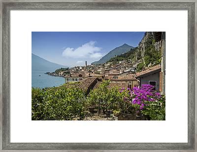 Lake Garda Limone Sul Garda Framed Print by Melanie Viola