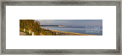 Lake Michigan From Elberta Framed Print by Twenty Two North Photography
