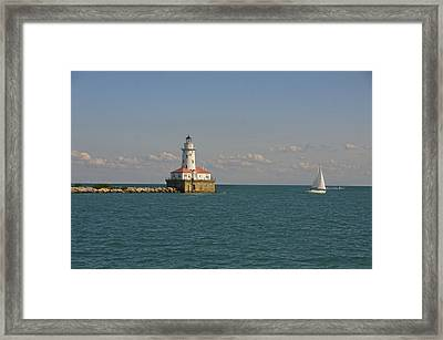 Lake Michigan Lighthouse Framed Print