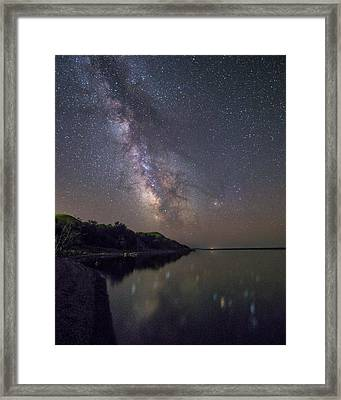 Framed Print featuring the photograph Lake Oahe  by Aaron J Groen
