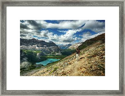 Lake O'hara Adventure Framed Print