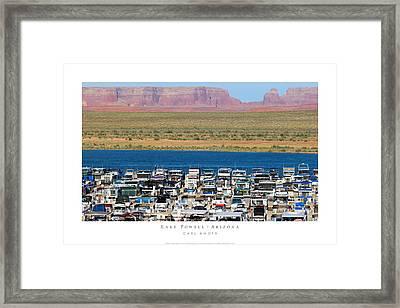 Lake Powell Arizona Framed Print by Carl Amoth