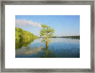 Lake Providence Louisiana - Digital Painting Framed Print